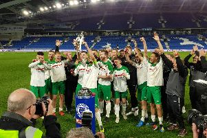 Rocks win the Sussex Senior Cup at the Amex / Picture by Tommy McMillan