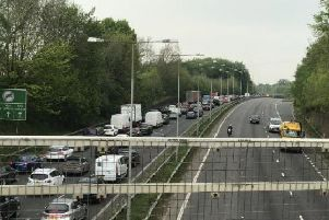 Traffic at the scene of last week's M23 collision