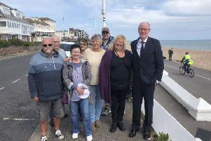 Residents from the Marine Drive West Residents Action Group met with Nick Gibb MP