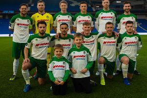 The Rocks' line-up for the Sussex Senior Cup final / Picture by Tommy McMillan