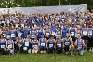 The mass Tone Zone turnout at the 10k / Picture by Liz Pearce