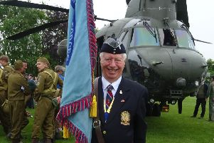 Cliff Mewett, chairman of the RAF Association in Bognor Regis