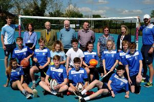 The Warriner School's MUGA opened today with pupils and beneficiaries attending the event