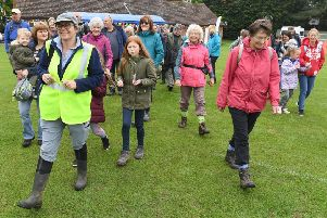 Launch of the Wolds Walking Festival. Start of one of the walks. EMN-190520-124754001