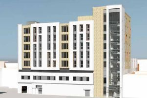 View of the proposed new flats from Bedford Street