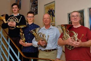 From left to right, Brendan Connellan, Zac Hayward, Peter Lewis and John Peskett.