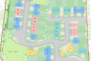 Site layout for proposed new homes