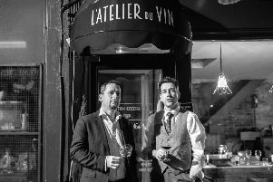 Dimitri Mesnard and Steve Pineau co-owners of L'Atelier Du Vin. Photo by Nick Harvey