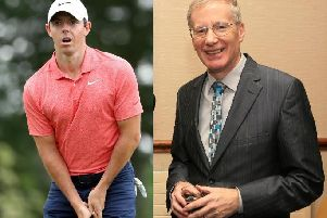 Left, Rory McIlroy, and, right, Gregory Campbell.