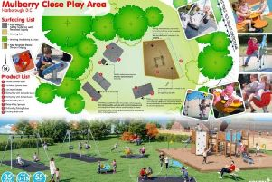 The plans for the Mulberry Way play park