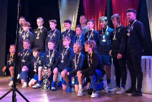 Bognor under-13s after one of their tournament wins