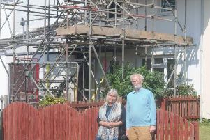 Hundreds of council houses on a city estate are having their roofs replaced because they contain asbestos