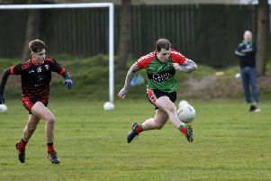 Eoghan Quigg will be one of the Doire Trasna danger men as the Pearses travel to Slaughtmanus in a crucial promotion clash.