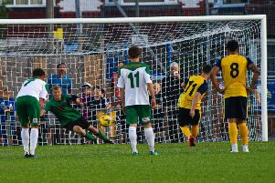 Gosport put a penalty past Bognor / Picture by Tommy McMillan