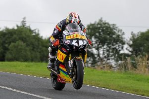 Conor Cummins was second fastest in the Superbike class on the Milenco by Padgett's Honda.