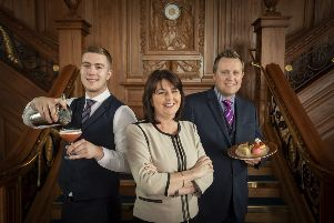 Titanic Belfast's Siobhan Lynch, Brendan Collins and Lloyd Jackson pictured as it set to recruit 27 hospitality roles to deliver some of Northern Ireland's most high-profile events