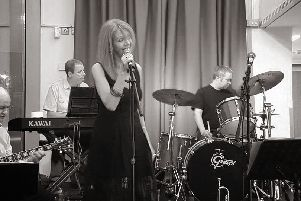 Vocalist Joan Talbot who will be joining Jazz Gazette at the Alley Theatre for their summer season finale performance.