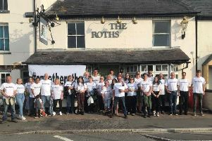 Save The Roths campaigners start their day of protest outside the Rothschild Arms