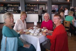 The Oddfellows enjoying afternoon tea in Worthing