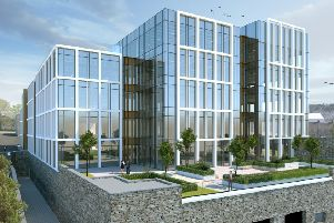 Artist's impression of the new offices in Derry's Ebrington site.