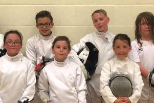 Some of the fencers who represented Chichester in Hertfordshire