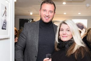 Jason Burrill and Celeb FC founder Karin Flower