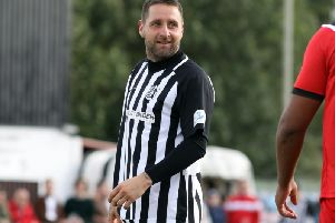 Steve Diggin has scored five goals in as many games for Corby Town at the start of the season. Picture by Alison Bagley
