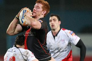 Roddy Grant in action against Ulster in 2012.