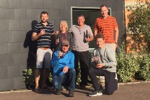Members of the community brewing hub in Chichester