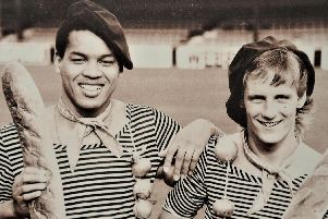 Brian Stein and Paul Walsh on England duty ahead of their match with France