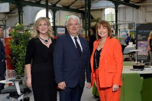 Cathy Thompson (Hostelworld), Vincent Harrison (Dublin Airport) and Ann McGregor (NI Chamber).