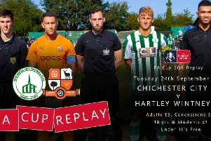 Up for the Cup (replay) - Chichester and Hartley Wintney will play it again on Tuesday / Image by Neil Holmes