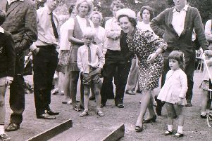 Bowled over by the crowds that turned out in 1970 for the Tory garden fete at Leadenham House. EMN-190916-131516001