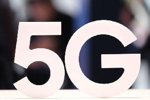 A 5G stand (Photo by Sean Gallup/Getty Images) 775400202