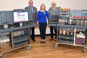 The new refreshment carts at the hospital have been funded by the Friends