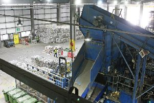 Inside the recycling facility in Ford