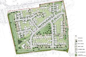 The new masterplan for 143 homes at the site in Oving