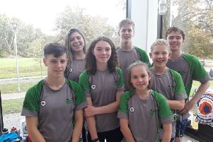 Berkhamsted SC's youngsters at the Harpenden Finis Legacy meet at the weekend.