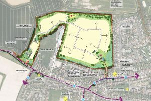 Land north of Sefter Road is set to be developed for 280 homes