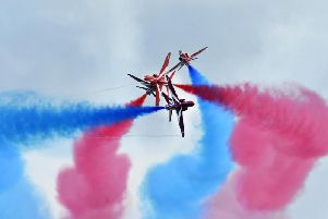 The Red Arrows performing in 2017. Photo: Jon Rigby.