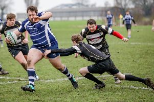 Boston Rugby Club v Worksop action. Photo: David Dales.