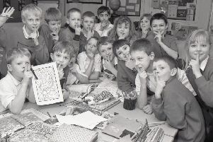 A sponsored silence was held at St Thomas' Primary School, Boston, 20 years ago, helping raise funds for Pilgrim Hospital's MRI scanner fund.