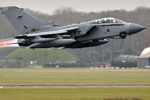 Tornado GR4 aircraft taking off from RAF Marham. EMN-190213-114038001
