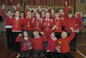 'We are the champions!' Hawthorn Tree Primary School.