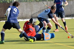 South Saxons on the attack during their last home game, against BBHC, two weeks ago. Picture by Justin Lycett