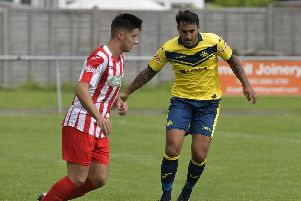 Curtis Da Costa scored for Moneyfields. Picture: Neil Marshall (171026-19)