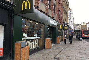 The assault happened near to McDonald's in the Drapery.