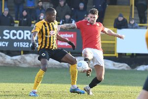 Jonathan Wafula in action against FC United, Boston's last home fixture.
