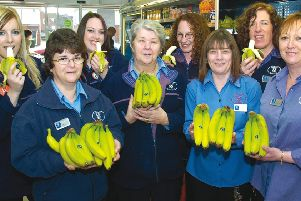 Staff at the Eastwood Road Co-op in Boston 10 years ago.