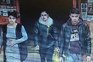 Police want to talk to the men and women in the CCTV images in relation to a theft from Boston's Iceland